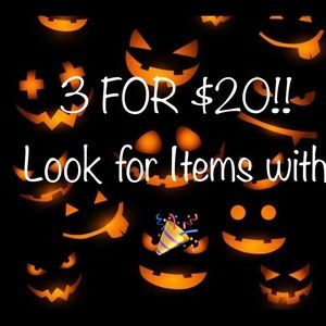 3 FOR $20!! Look for Items with 🎉